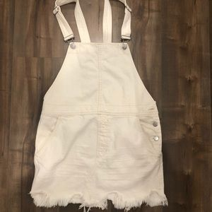 Free people white overall skirt